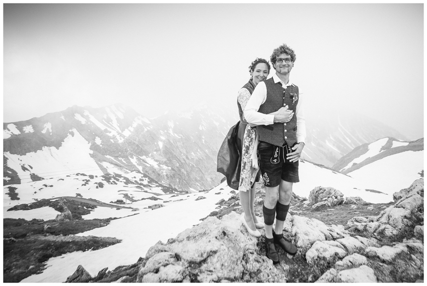 34 Hochzeit auf dem Nebelhorn Marion dos Santos Fotografin Allgaeu