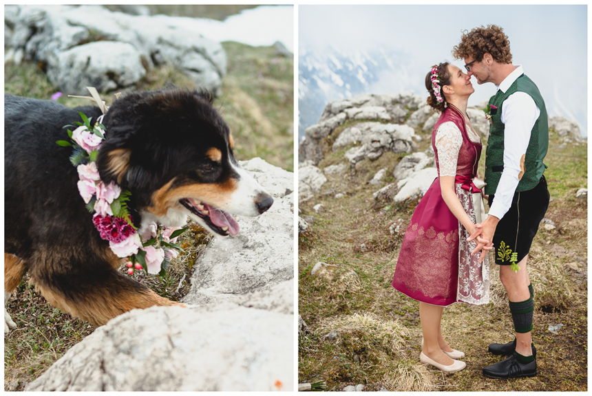 37 Hochzeit auf dem Nebelhorn Marion dos Santos Fotografin Allgaeu