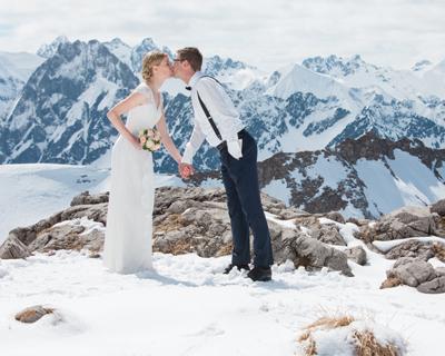 Hochzeit auf dem Nebelhorn